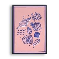 Seashells / 일러스트 액자
