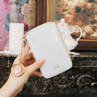 D.LAB Twinkle Zipper Wallet - White
