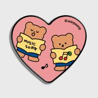 Music song bear-pink(하트톡)