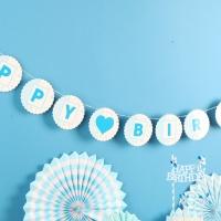 페이퍼 생일 플라워가랜드(블루)