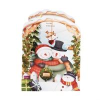 크리스마스카드/성탄절/트리/산타 해피눈사람(FS205-1)