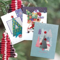 크리스마스카드/성탄절/트리/산타 숲속 크리스마스카드 FS1025 Set456 (3종 한세트)