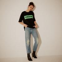 COMMUNE 네온박스 레터링 티셔츠(남여공용) 블랙
