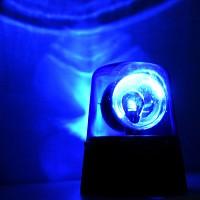 LED 휴대용 경광미러볼 (건전지형)