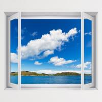 cv437-푸른하늘푸른바다_풍경모음_창문그림액자(중형)