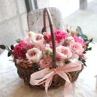 로즈 & 카네이션 핑크 꽃바구니