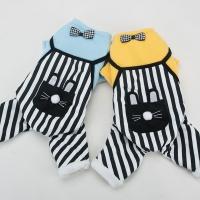 [봉봉펫닷컴] 토끼 주머니 스트라이프 강아지옷