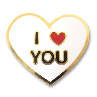 I LOVE YOU 하트 뱃지