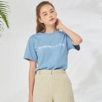 [률앤와이] 선샤인 베이직 티셔츠 : 블루
