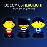 3D DC코믹스 배트맨 슈퍼맨 원더우먼 램프 피규어 3종