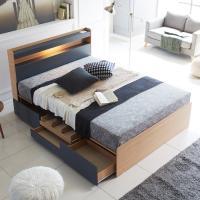 [노하우] 엠버 LED 헤드수납 서랍형 침대 Q