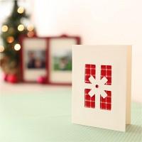 핸드메이드 크리스마스 카드 (패브릭)-따뜻한 선물