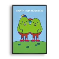 행복한 쌍둥이산 / 일러스트 액자