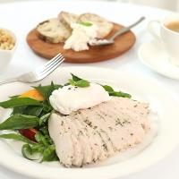 [허닭] 샐러드 슬라이스 닭가슴살 바질 100g 1+1