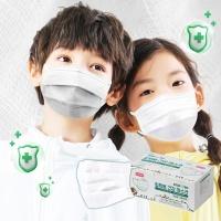 KC인증 3겹필터 어린이 일회용마스크 50p세트(화이트)
