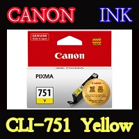 캐논(CANON) 잉크 CLI-751 / Yellow / CLI751 / ip7270 / ip8770 / ix6770 / ix6870 / MG5470 / MG5570 / MG6370 Black / MG6370 White / MG6470 / MG7170 / MX727 / MX927