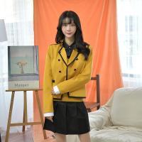 옐로우 네이비라인 자켓(여자) 교복마이 교복자켓