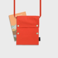 Two button book pouch cross_Flame orange