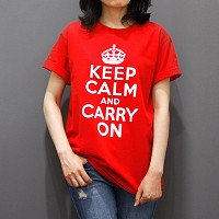 (Unisex) Keep Calm Premium Cotton 5.3 oz T-Shirt - Red