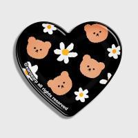 Dot flower bear-black(hearttoktok)