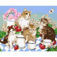 아이엠미니DIY별빛명화그리기40x50_고양이들의 티타임