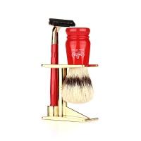 [오메가브러쉬] shaving brush SET 1091.K RED