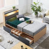 [노하우] 엠버 LED 헤드수납 서랍형 침대 SS