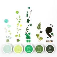 [아리부바] 클레이 그라데이션 초록계열 Set