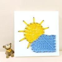 꼬마 구름태양 스트링아트 만들기 패키지 DIY