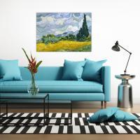 명화 캔버스 액자 고흐 그림 삼나무가 있는 밀밭 14