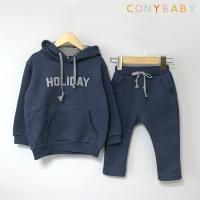 [CONY]홀리데이 기모후드 상하복세트(네이비)