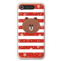 라인프렌즈 iPhone7 BROWN Stripe-R LIGHT CASE
