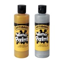아티바바 반짝이 워터페인트 250ml 금색/은색  택 1