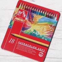 [CARAN DACHE] 까렌다쉬 전문가용 수채색연필-슈프라컬러 18색 메탈박스