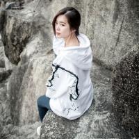 벚꽃자수 후드티 Ver.2 White