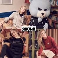 KRUNK 크렁크 여성용 맨투맨+후드짚업 3종 셋트