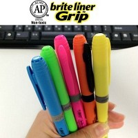 [BiC] Made in U.S.A..프랑스 빅 브라이트 라이너 Grip 형광펜 1타스(12자루) A111-1s