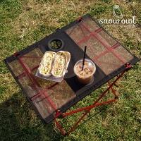 스노우아울 캠핑 초경량 롤 폴딩 테이블 컵홀더