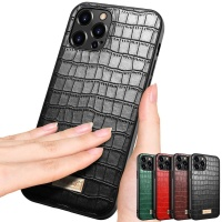 아이폰12 PRO MAX MINI/악어 패턴 슬림 가죽 폰케이스