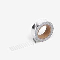 마스킹테이프 - 47 Pencil obilque : silver
