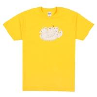 티라미수냥 반팔티셔츠 - 옐로우