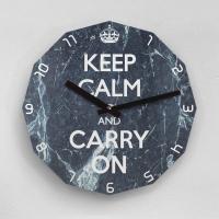 리플렉스 KEEP CALM AND CARRY ON 12각 무소음벽시계 KP12MBC