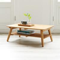 [이노센트플러스] 리브  대나무 원목 테이블 (중)
