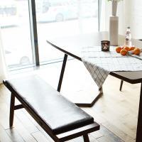 [채우리] 레이 4인 와이드 원목 식탁+벤치1