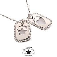 [참스홀릭]necklace Crystal blue palm ckt103