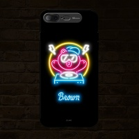iPhone7 8 Plus LINE FRIENDS NEON BROWN