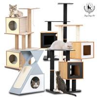 [딩동펫]고양이 원목 하이그로시 캣타워 스크래처 캣타워