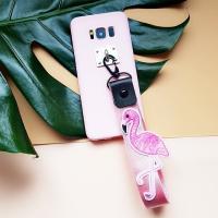 핑크핑크 플라밍고 스트랩케이스(LG폰 시리즈)