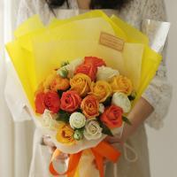 NEW 톡톡 오렌지빛 꽃다발