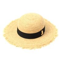 GDMT Round Natural Raffia Hat